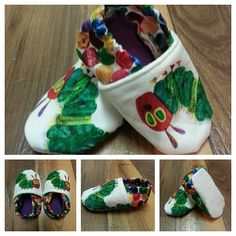 Very Hungry Caterpillar Soft Sole Shoes by LilCheeky on Etsy