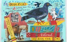 Mark Hearld's illustration for the 'York Book Fair', 2013 #collage #mixedmedia
