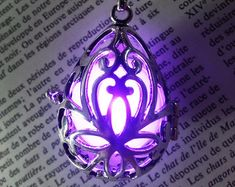 Fairy punk jewelry necklace drop locket with purple glowing orb pendants 6 Cute Necklace, Locket Necklace, Jewelry Necklaces, Pendant Necklace, Rainbow Metal, Steampunk Rings, Boys And Girls Clothes, Steam Punk Jewelry, Shadow Hunters