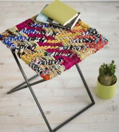$79 Chindi Folding Stool - also available are Chindi chairs and barstools. Beautiful!