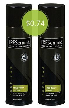 Tresemme Hair Spray, Only $0.74 at Walmart!