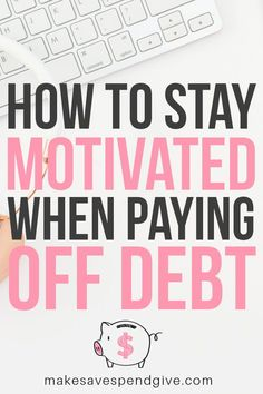 How To Stay Motivated When Paying Off Debt - Pay off credit card - How long to Pay off credit card? - How to stay motivated when paying off debt. Includes a free printable Paying Off Student Loans, Student Loan Debt, Pay Debt, Debt Payoff, Budgeting Finances, Budgeting Tips, Paying Off Credit Cards, Financial Peace, Financial Literacy