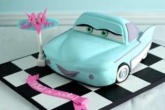 My 40th Birthday Cake - How to Make a Flo Car Cake