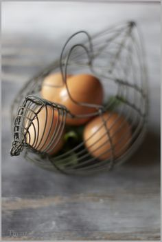 ...eggs in a perfect basket...