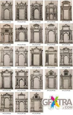 House facade design classic porticos ideas for 2019 Architecture Baroque, Neoclassical Architecture, Classic Architecture, Architecture Drawings, Architecture Details, Ancient Architecture, Window Design, Door Design, Exterior Design