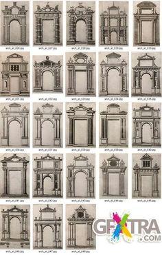House facade design classic porticos ideas for 2019 Architecture Antique, Neoclassical Architecture, Classic Architecture, Architecture Drawings, Architecture Details, Window Design, Door Design, Exterior Design, House Design