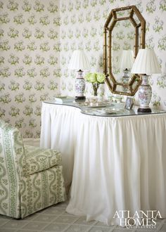 The Glam Pad: 25 Timeless Skirted Dressing Tables