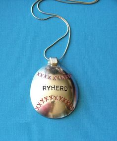 MamaZ Pride Baseball Spoon Necklace by SpoonerZ on Etsy, $29.99