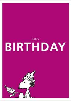 Happy Birthday, from Snoopy. Get your party hats on. Let's celebrate. Birthday Pins, Birthday Images, Birthday Quotes, It's Your Birthday, Birthday Cards, Snoopy Love, Charlie Brown And Snoopy, Snoopy And Woodstock, Snoopy Birthday