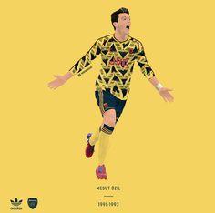 Mesut Ozil / Arsenal FC / designed by James O'Mara. Premier Football, Football Icon, Football Art, Football Stuff, Mesut Ozil Arsenal, Arsenal Fc, Football Player Drawing, Football Players, Arsenal Wallpapers