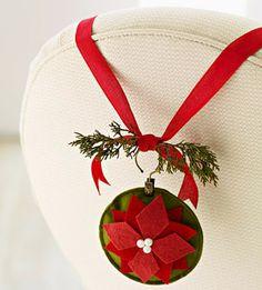 Felt Poinsettia Christmas Ornament - to go with The Legand of the Poinsettia