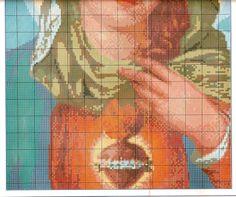 Gráfico Ponto Cruz - Sagrado Coração de Maria - Esquemas de Ponto de Cruz