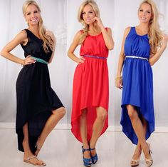 Great simply cut hi-low dress that can be worn many many ways! Different hair styles, accessories, shoes, and the works! $19.99