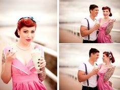 Vintage Engagement Shoot by Zanabelle Photography