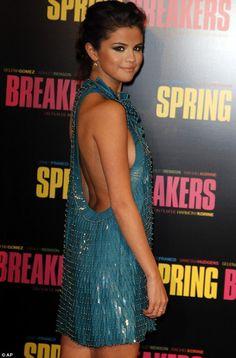 Such grace...! #SelenaGomez #ashion #movies #music Daring to be different: Selena flaunted her back in her blue dress