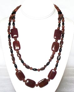 Dream  Red Jasper Blackstone Malaysia Jade by dmujewelrydesign, $39.99