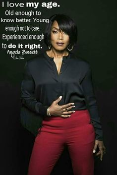 embracing your age- Angela Bassett My Black Is Beautiful, Black Love, Dead Gorgeous, Black Girls Rock, Black Girl Magic, Meet The Robinsons, New School Hip Hop, Great Quotes, Inspirational Quotes