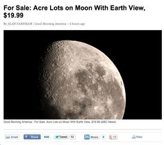 Would you be interested? | Moon with Earth View | Real Estate |