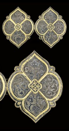 Turkey | Ottoman niello and gilt silver belt buckle | ca. 19th century | 1'125£ ~ sold (Oct '08)