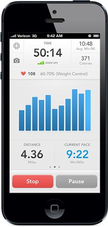 iPhone with Runkeeper!