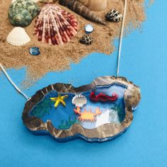 Little Pool, Sunflower Necklace, Rock Pools, Very Lovely, Pin Badges, Sea Creatures, Seaside, Unique Jewelry, Handmade Gifts