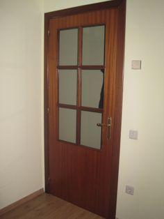 Puertas antes - En color sapelly y con desperfectos