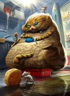 Fat Cat by Vladimyr Prox | Humourous | 2D | CGSociety