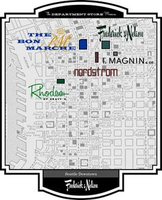 Frederick and Nelson Downtown Seatte   Frederick & Nelson