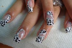 Animal Prints... #animalpront #Nailart - bellashoot.com #black #white