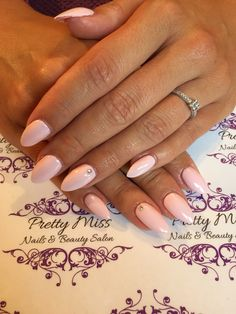 Acrylics with CND Shellac in Winter Glow