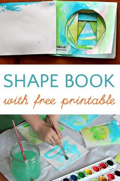 DIY cut out shape book. Free printable included. Would go well with Bear in a Square or Ship Shapes.