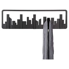 Remarkable Retractable Coat Hook To Organize Your Closet: Perfect Retractable Coat Hook Using Black Color Design With Undulating Hooks Sty\u2026
