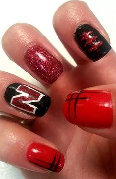 Husker Nails Football Nail Designs Art College Get