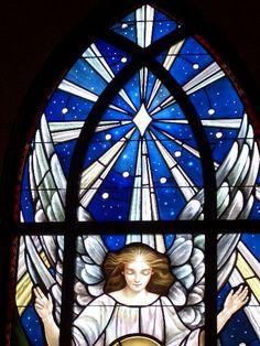 Nativity Stained Glass window detail, St. Marks, Vero Beach, FL