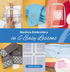 Machine Embroidery in 6 Easy Lessons is going to demystify the embroidery machine and tools, embroidery designs, placement, hooping, stitching and finishing. Instead of looking at the overall task as overwhelming, we'll break down each segment and simplify every step. After reading this 64-page book and working through the exercises at the end, you'll be ready for any embroidery project.