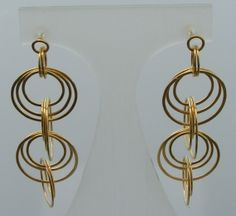 3D Mobile gold plated Earrings