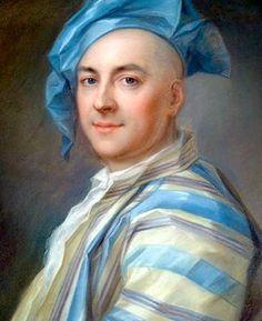 Homage to La Tour Pastel Selfie! Jean-Louis LAMBERT, France, 1742, (1699–1742)