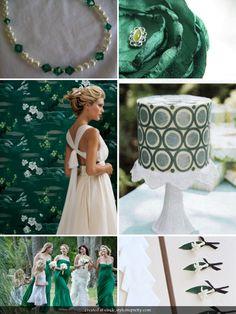Irish wedding inspiration for St Patricks Day #green