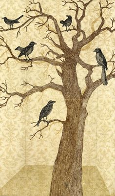 Piia Lehti: Musiikkihuone / Music room 57 x 33 cm, silkscreen on plywood, 2014 Finland Birds 2, Wild Nature, My Spirit Animal, Green Trees, Water Lilies, Printmaking, Moose Art, Illustrations, Art Prints