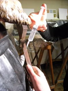 injection against wood worm restoration  conservation  Art. Preservation old new paintings,  canvas, paper or panel. Polychrome wood statues, stone sculptures  carriers. Expertise offer made free. ART conservator restorer Frederik Cnockaert expert craftsman  highest quality  www.art-restaurateur.fr  info@kerat.be  painting during restoration in atelier kerat. conservation Art. Preservation old new paintings, canvas, copper panel. Polychrome wood statue, stone sculpture  carriers. Expertise…