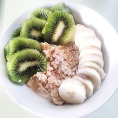 Porridge kiwi - banane