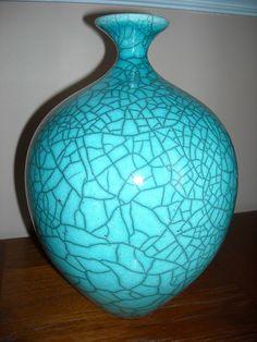 Bob Green Raku Vase   purchased 2010 Baltimore ACC Craft Fair: Raku Pottery