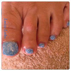 Shellac nails and print.  Louise Leake