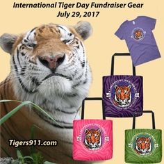 INTERNATIONAL TIGER DAY IS JULY 29TH!We have designed a unique new line of merchandise featuring TJ tiger for International Tiger Day -- July 29th! Learn more and check it all out here: Tigers911.comBig Cat Rescue will donate the profit from all purchases of our International Tiger Day merchandise -- and any donations you make on the ITD merchandise page -- plus we will MATCH THE PROFIT DOLLAR FOR DOLLAR up to $5000. The funds will be donated to the Corbett Foundation's work to protect w