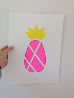 Pineapple print by TWOANDJAX on Etsy, $45.00