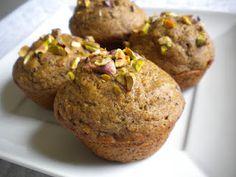 vegan vanilla chai pistachio muffins