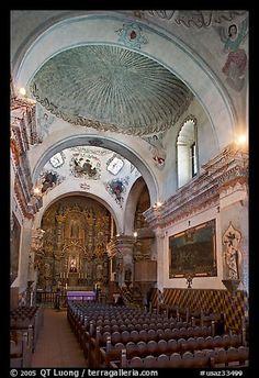 Chapel, San Xavier del Bac Mission. Tucson, Arizona, USA