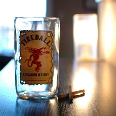 Fireball Whiskey Vase Upcycled Recycled by ForbesFactoryEtsy Fireball Whiskey, Whiskey Bottle, Cinnamon Whiskey, Liquor Bottles, Pint Glass, Whisky, Upcycle, Recycling, Jar