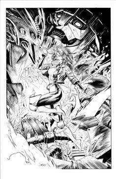 Rogue by Dan-Mora on DeviantArt Various Artists, Rogues, Marvel Universe, X Men, Comic Art, Dan, Sketches, Scene, Deviantart