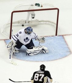 Nothing but net, boys and girls. Sidney Crosby scores his first goal of the season during game #3 versus Toronto 1/23/13